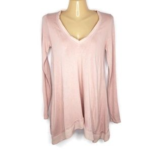 Anthro Deletta Knit Top Vneck Silky Trim Size XS